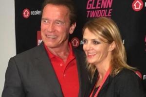 Lisa B and Arnold Schwarzenegger