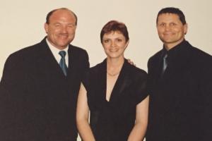 Lisa B, Wally Lewis and Wayne Pearce