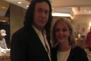 Lisa B and Gene Simmons