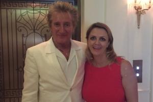 Lisa B and Rod Stewart